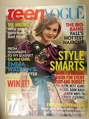 Teen Vogue - August 2009 - Cover Star Emma Watson - Collector's Item