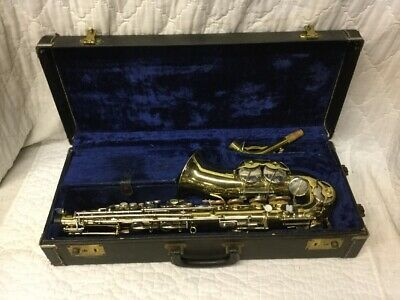 F E OLDS Parisian Ambassador Alto Saxophone Made In France Full Outfit &  Case