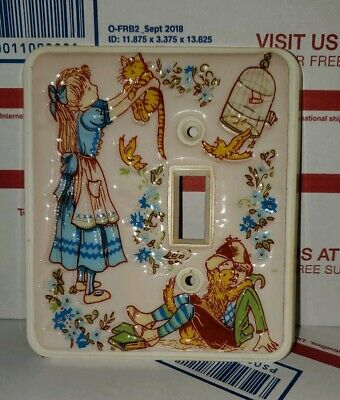 Vintage 1978 American Tack boy girl children Light Switch Plate holly hobby?