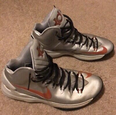 pretty nice d6e70 cd0a4 Nike Zoom KD V (KD 5) Texas Longhorns Silver Burnt Orange - Size 11.5