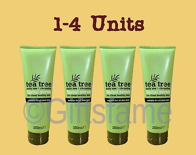 1-4 units 250ml Tea Tree cleansing daily facial scrub healthy skin for all types