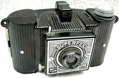 **1940`s FEX SUPERFEX 4x6.5 cm 127 FILM BAKELITE CAMERA IN VERY GOOD CONDITION**