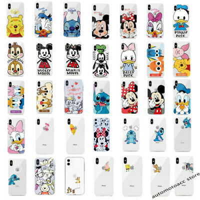 Disney Cartoon Mickey Minnie Mouse Soft Case Cover For iPhone 5 6 7 8 XS MAX XR