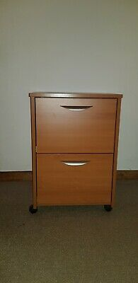 wooden filing cabinet 2 drawers