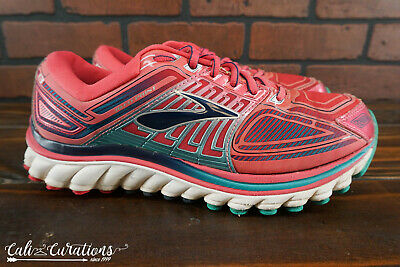 92655c2d60c03 BROOKS GLYCERIN 13 Womens Size 9.5 Running Shoes Pink Gray Silver ...