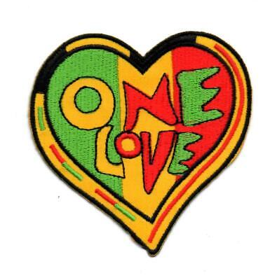 One Love Rasta Reggae P1316 Embroidered Ironon Patch High Quality Hat Jacket New