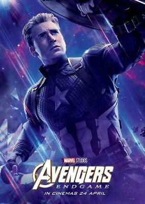 "Avengers End Game Movie Poster Captain America Marvel Print 13x20"" 24x36"" 27x40"""