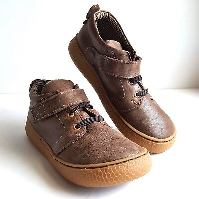 LIVIE /& LUCA Boys Sneakers Shoes Brown Leather Rubber Soles size 13 US NEW #S7
