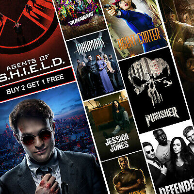 Marvel TV Show Posters A4 A3 HD Prints Art The Punisher Daredevil Jessica Jones