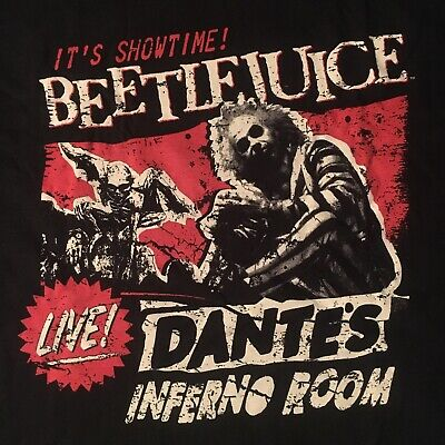 fun BEETLEJUICE  t-shirt by FUNKO--IT'S SHOWTIME dante's inferno room--NEW--(XL)