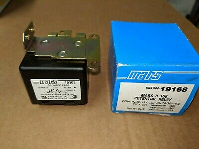 Mars Potential Relay 685744-19168, Mars II 168, 502 Continuous Coil Voltage