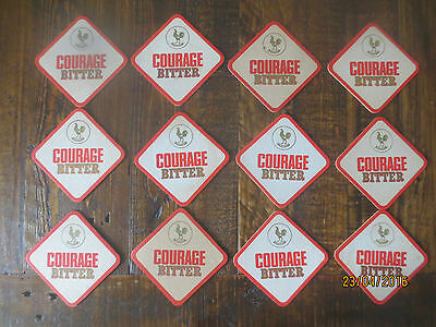 12 COURAGE BREWERY,1969 AUSTRALIA Issue,collectable COASTERS ,