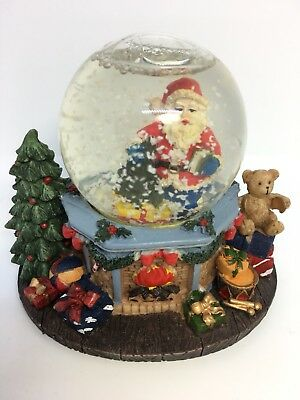 Christmas Snow Globe Santa Present Decoration