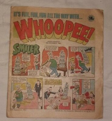 Whoopee Comic December 5th 1981