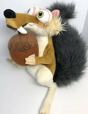 Ice Age 2015 Large Scrat The Sabre Toothed Squirrel Detachable Acorn Plush Soft