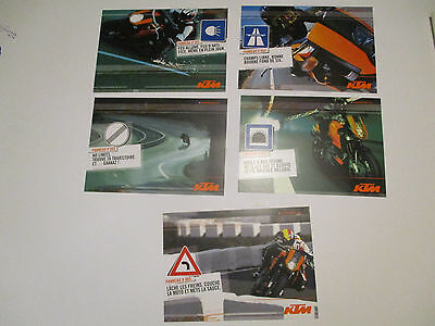 LOT DE 5 CARTES POSTALES KTM DUKE (1 à 5) de 2006