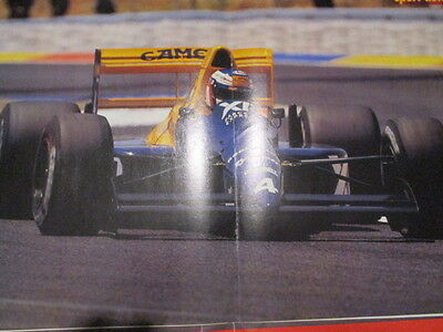 Poster 2 Pages Auto : Monoplace Formule 1 Tyrrell Pilote Inconnu N°4