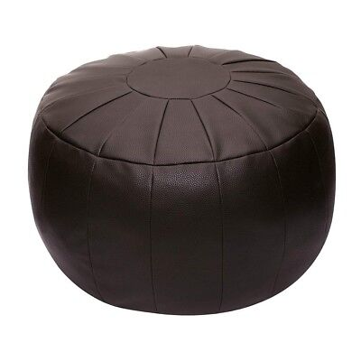 Pouf With Storage Ottoman Foot Rest Seat Brown Home Floor Stool Unstuffed Gift