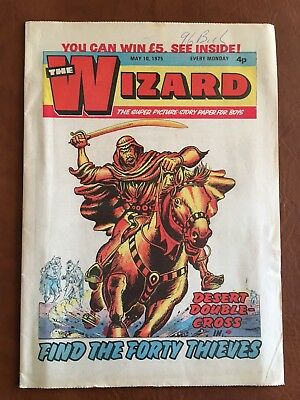 Vintage Comic - The Wizard - 10th May 1975 (Ideal Birthday Idea)