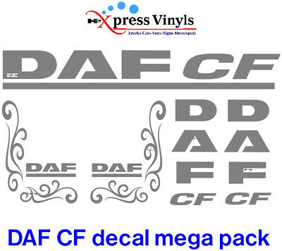 DAF CF decals. truck graphic stickers ANY COLOUR