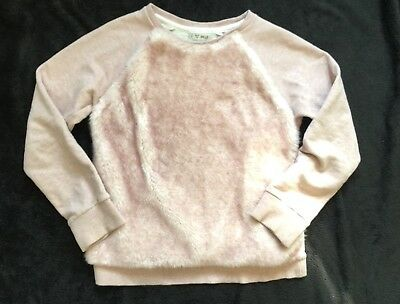 Next Girls Age 9 Years Pink Fluffy Jumper Sweater