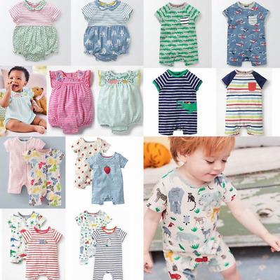 Cute NEW Ex Baby Boden Fun Rompers - 0-2 Years - RRP £14