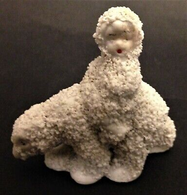 Antique Snow baby figurine made in Japan Child on a Polar Bear
