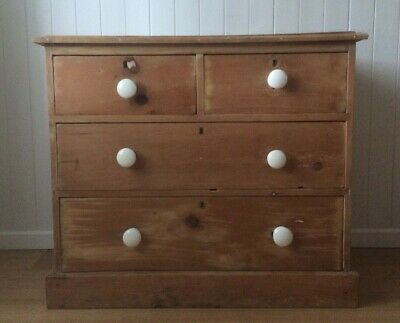 Antique Small Victorian Pine Chest of Drawers
