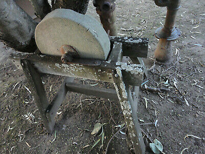 Vintage Rustic, Sharpening Wheel Stone,