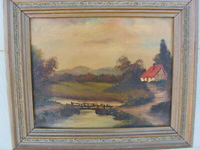 Vintage Original Oil Painting  Signed Landscape, Very Nice [ Reduced Price]