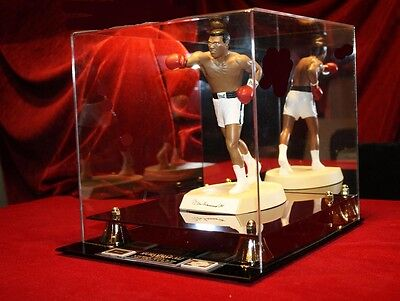 Signed MUHAMMAD ALI Autograph Boxing STATUE in CASE, Salvino COA, UACC #228, BOX