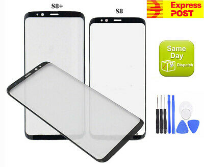 New Samsung Galaxy S8 G950F/S8+ G955F Front Screen Glass Replacement Au Stock