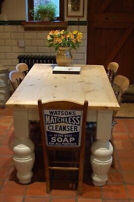Fabulous Old Pine Kitchen Scrub Top Table