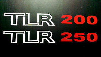 Honda TLR 200 - 250 side panel decals stickers pair trials twinshock
