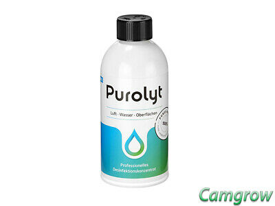 Purolyt  Disinfectant Concentrate 500ml Effectively Destroys Bacteria Algae