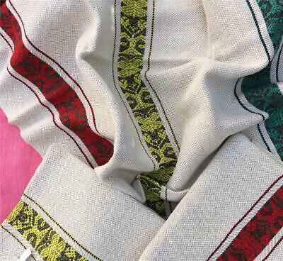 3 Unused Vintage French Linen Metis Torchons  Tea Towels - Fabulous Pattern