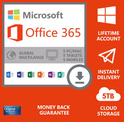 Instant microsoft office 365 2016 for Windows & Mac Pro Plus - 5 PC devices ESD