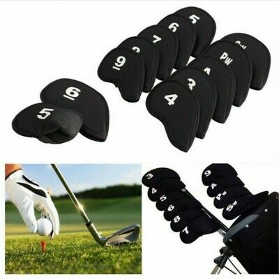 10x Golf Club Headcover Iron Head Covers Protect Gift Kit Golf Accessories Multi