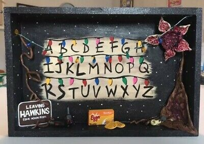 Handmade Stranger Things Season 1 Wall Display Hand Painted And Sculpted