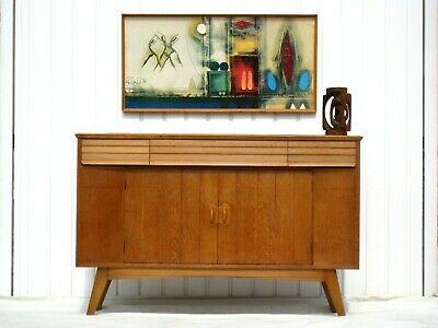 RETRO SIDEBOARD HEALS UTILITY CC41 STUNNING SUPERB VINTAGE OAK 1950s EVEREST