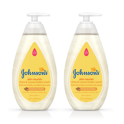 NEW Johnson's Skin Nourish Baby Wash With Shea & Cocoa Butter, 16.9 fl. oz (2)