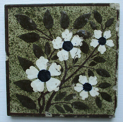 Victorian Floral Tile By Josiah Wedgewood & Sons