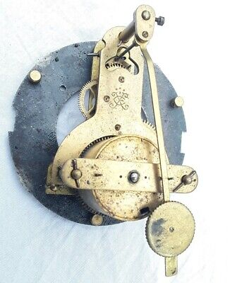 Very Rare Antique Circa 1880 Japy Freres Tic Tac Cie Wall Clock French Movement