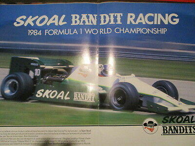 Poster 2 Pages Auto : Monoplace Formule 1 Skoal Bandit Jonathan Palmer N°10