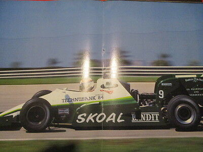 Poster 2 Pages Auto : Monoplace Formule 1 Skoal Bandit Philippe Alliot N°9