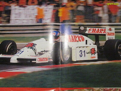 Poster 2 Pages Auto : Monoplace Formule 1 Pilote Inconnu N°31