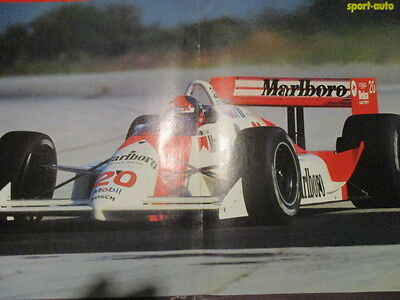 Poster 2 Pages Auto : Pilote Inconnu Cart N°20