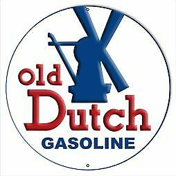 VINTAGE STYLE METAL SIGN Gasoline Old Dutch Motor Oil 14x14