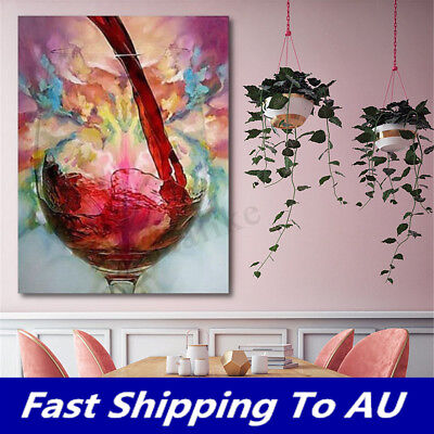 Abstract Giclee Red Wine Oil Painting Canvas Print Wall Art Picture Home Decor