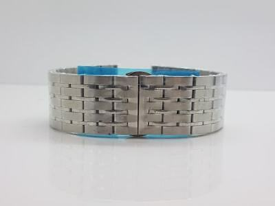 22mm Heavy Duty Watch Strap Stainless Steel with Curved & Straight End Pieces